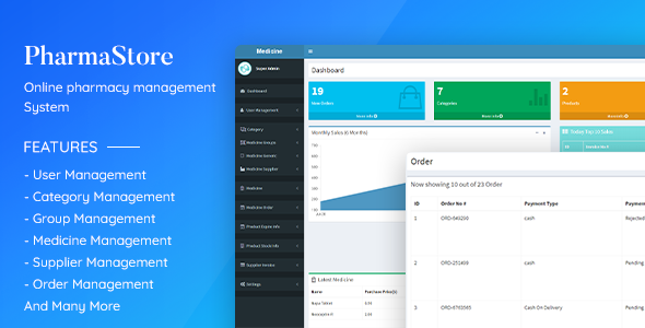 ✌PharmaStore – Online Pharmacy Management System Nulled