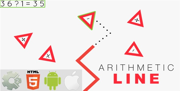 ✨Arithmetic Line – HTML5 Game + Mobile Version! (Construct-2 CAPX) Nulled
