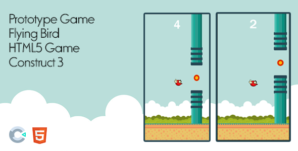 ✌Prototype Game – Flying Bird – HTML5 Game Construct 3 Nulled
