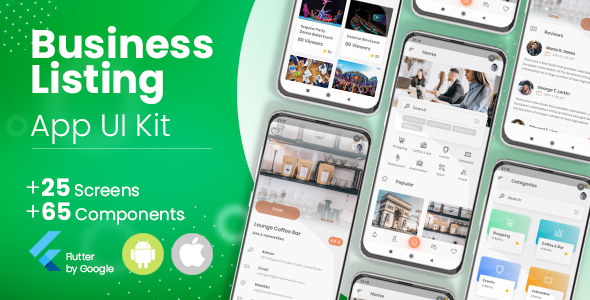 ✅ Business Directory, Listing Flutter App UI Kit Nulled