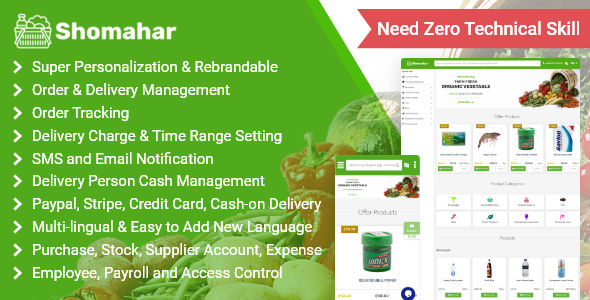 ✨Shomahar – Grocery and Medicine Order & Delivery System Nulled