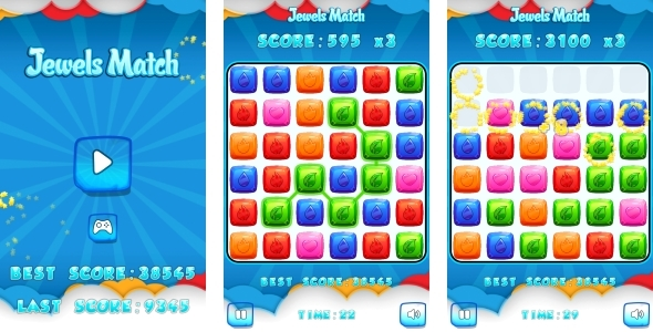 ✅ Jewels Match – HTML5 Game + Mobile + AdMob (Construct 3 | Construct 2 | Capx) Nulled