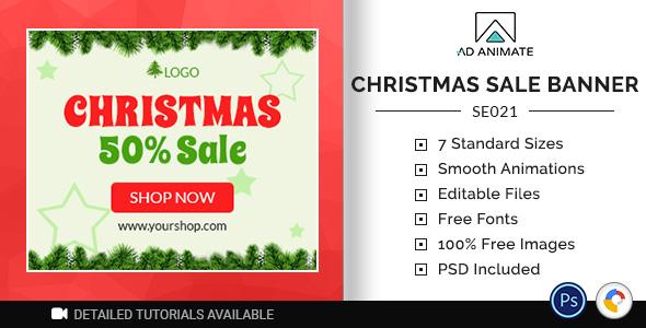 ✌Shopping & E-commerce | Christmas Sale Banner (SE021) Nulled