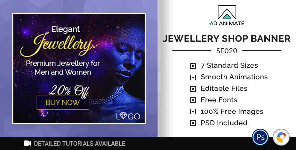 ✨Shopping & E-commerce | Jewellery Shop Banner (SE020) Nulled