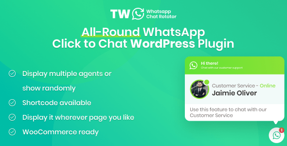 ✨WhatsApp Chat Rotator for WordPress and WooCommerce Nulled