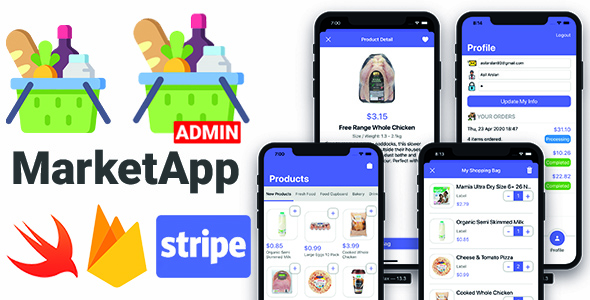 ✨Market App 2.0 with Admin App | Full iOS Application Nulled