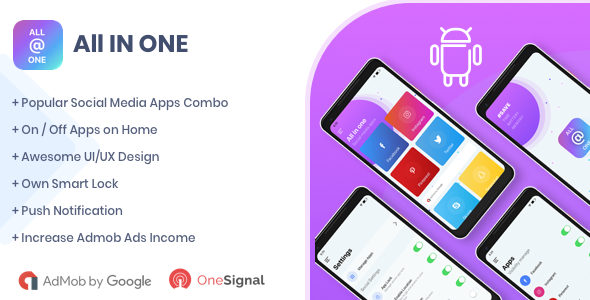 ✌All in One Social Media Android Native App Nulled