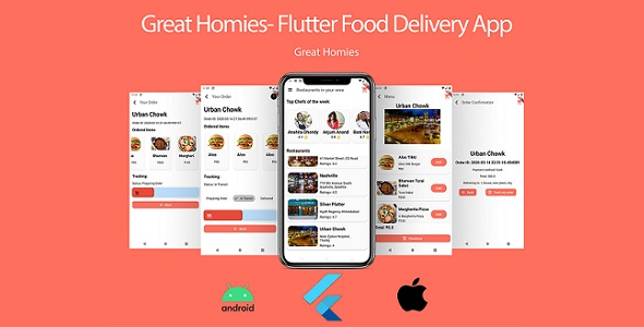 ✌Food App: Flutter Food App UI + Database Nulled
