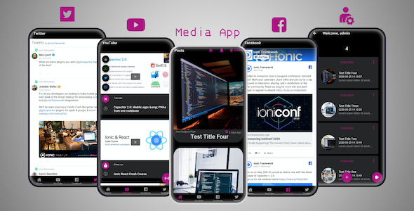 ✌Ionic 5 Media App with YouTube API, HLS Livestream and Admin Panel Nulled