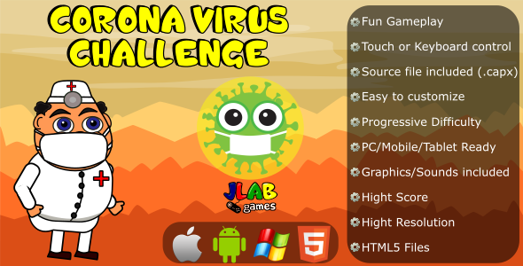 ✨Corona Virus Challenge – CAPX and HTML5 Files Nulled