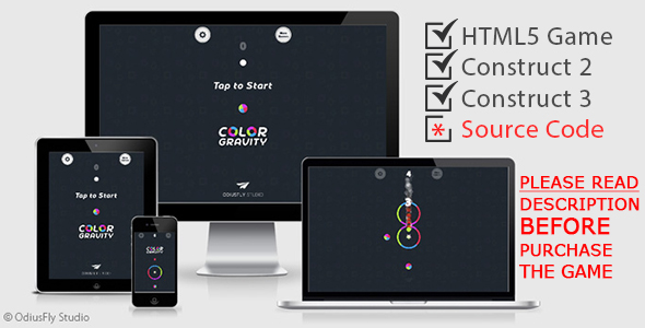 ✌Color Gravity – HTML5 Game (Construct 2 + Construct 3) Nulled