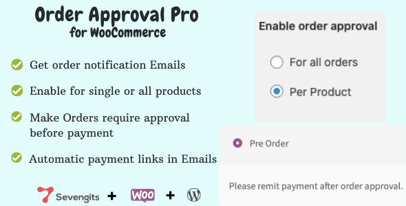 ✅ WooCommerce Order Approval Nulled