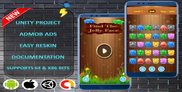 ✌Find The JellyFace Complete Project – Admob Nulled