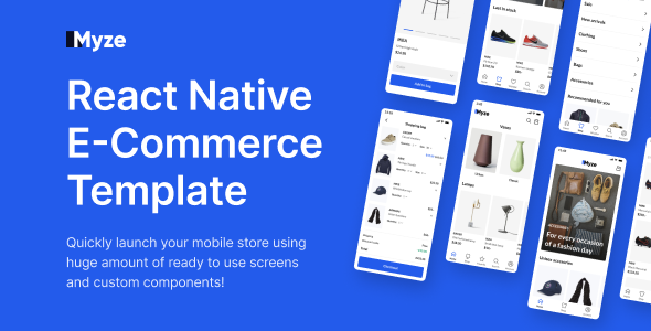 ✅ React Native E-commerce App Template with Figma Nulled