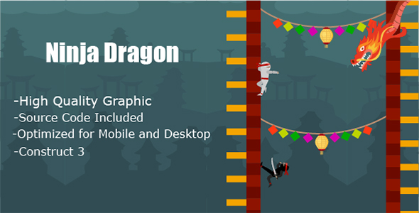 ✅ Ninja Dragon – HTML5 & Mobile Game (Construct 3 only) Nulled