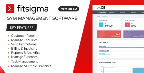 ✨Fitsigma – Gym Management Software Nulled