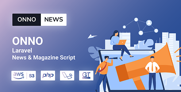 ✨ONNO – Laravel News & Magazine Script Nulled