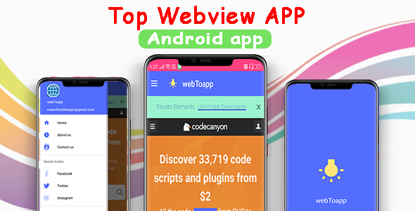 ✌Advanced WebView   Android WebView App Template Nulled