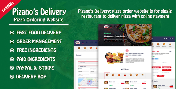 ✨Pizano's Delivery: Unlimited pizza order website Nulled