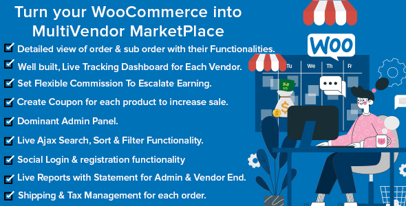 ✨Mercado Pro – Turn your WooCommerce into Multi Vendor Marketplace Nulled