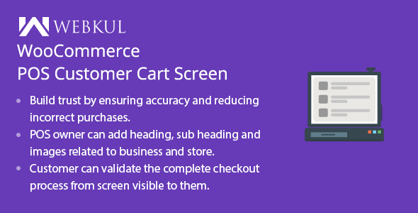 ✨WooCommerce POS Customer Cart Screen Nulled