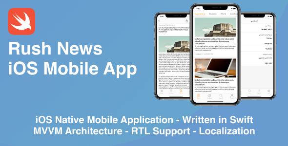 ✅ News Mobile iOS Native Application | Swift + MVVM Nulled