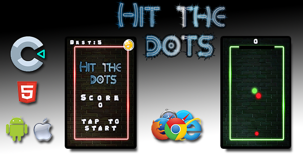 ✌Hit the dots – HTML5 Mobile Game Nulled
