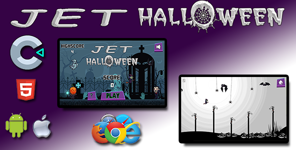 ✌Jet Halloween – HTML5 Mobile Game Nulled
