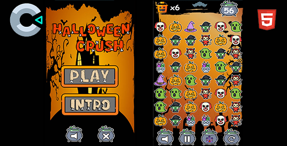 ✨Halloween Crush – HTML5 Mobile Game Nulled