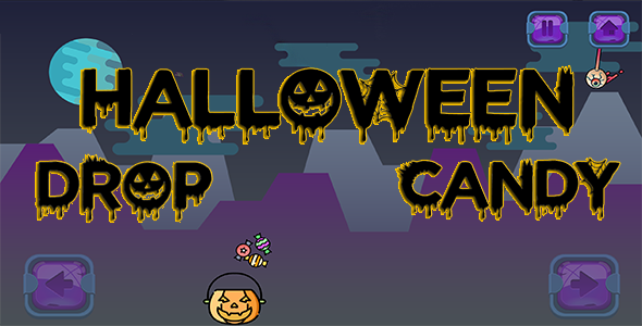 ✅ Halloween Candy Drop – HTML5 Mobile Game Nulled