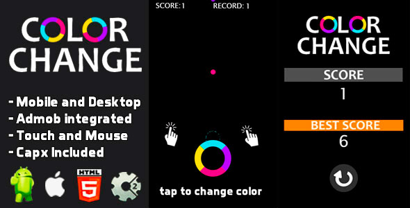 ✨Color Change – Html5 and Mobile .capx Nulled