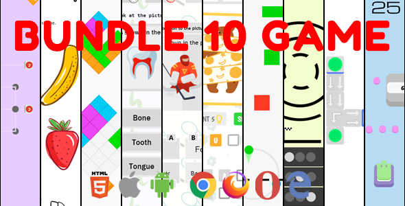 ✌Bundle 10 Game. Mobile, Html5. .c3p (Construct 3) Nulled