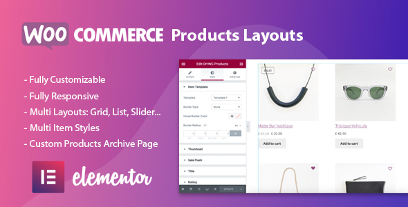 ✨WooCommerce Products Layouts for Elementor Nulled