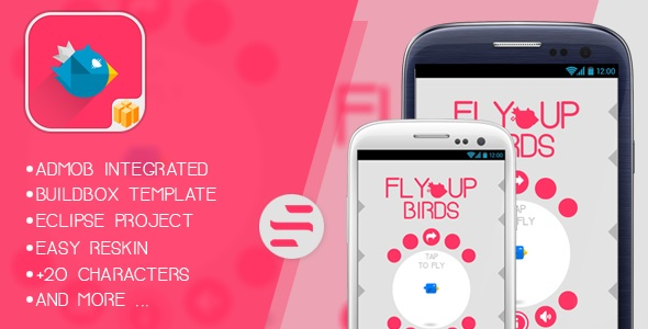 ✅ Fly Up Birds – Buildbox Game – Template Included + Android Eclipse Project Nulled