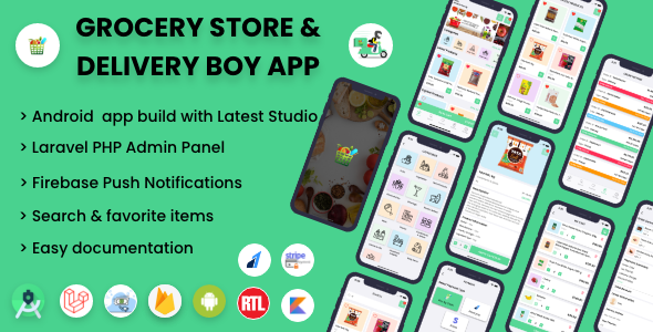 ✅ Single Grocery, Food, Pharmacy Store Android User & Delivery Boy Application With Admin Panel Nulled