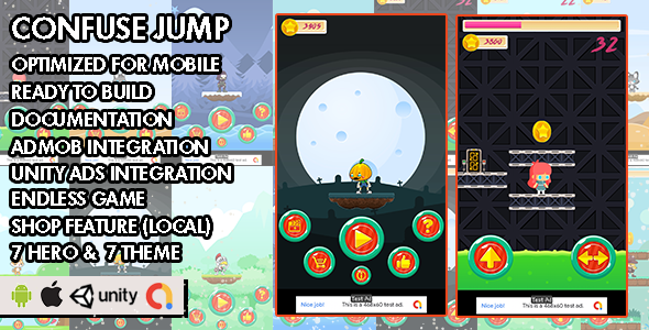 ✨Confuse Jump – Unity Game – Android Hypercasual Game Nulled
