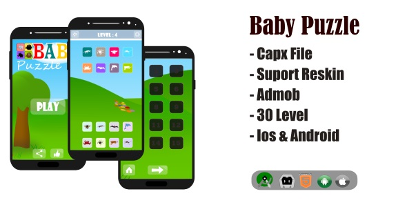 ✌Baby Puzzle Game HTML5 Capx File Nulled