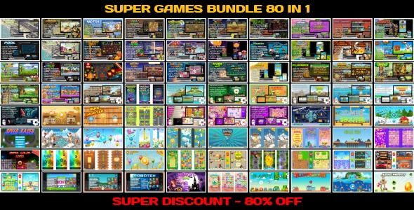 ✌80 HTML5 GAMES!!! SUPER BUNDLE №4 (Construct 3 | Construct 2 | Capx) Nulled