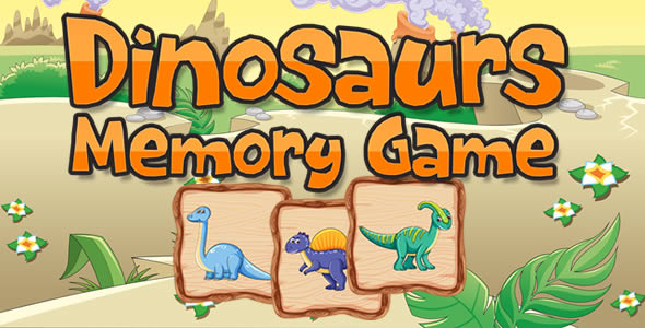 ✅ Dinosaurs Memory Game Nulled