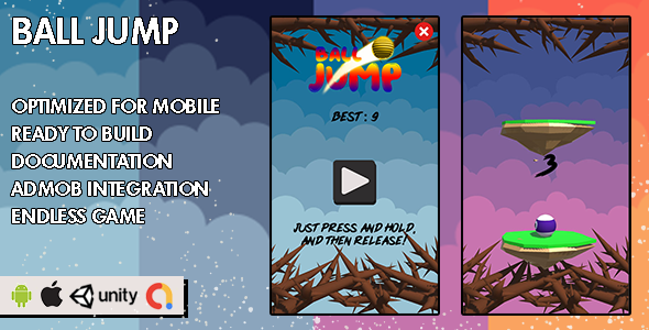 ✅ Ball Jump – Unity Game – Android Hypercasual Game Nulled