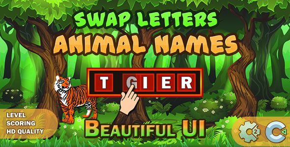 ✅ Swap Letters – Animal Names (Construct 2 | Construct 3 | HTML5 Game) Nulled