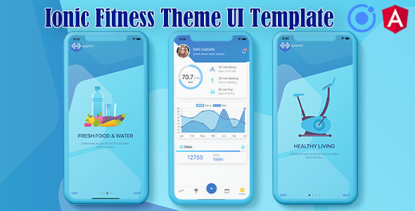 ✅ Ionic 5 / Angular 8 Fitness UI Theme / Template App | Starter App Nulled