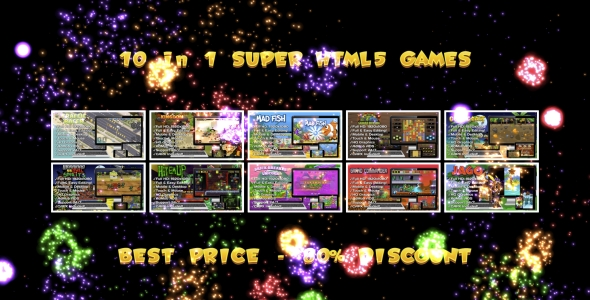 ✌10 SUPER HTML5 GAMES BUNDLE №2 (Construct 3   Construct 2   Capx) Nulled