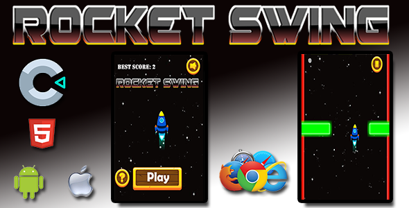 ✨Rocket Swing – HTML5 Mobile Game Nulled