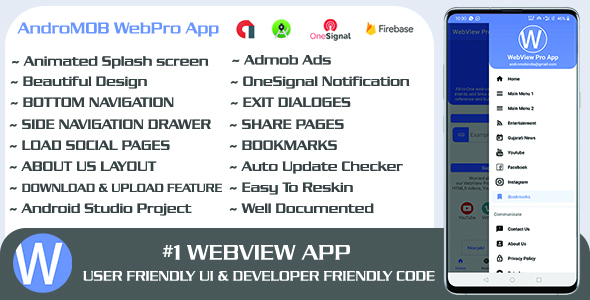 ✨WebPro – Easy Configurable Android WebView Pro App Template Nulled