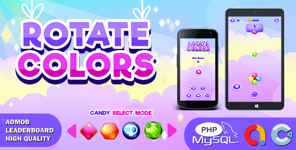 ✅ Candy Rotate Colors (Construct 3 | HTML5 Game | Leaderboard | Admob) Nulled