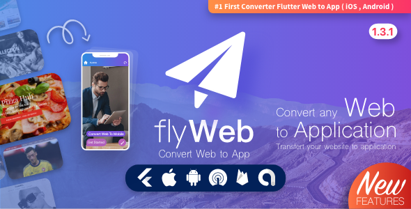✨FlyWeb for Web to App Convertor Flutter + Admin Panel Nulled