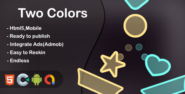 ✌Two Colors (Html5 + Construct 3 +Mobile) Nulled