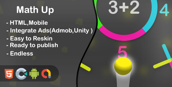 ✨Math Up – HTML5 Game and Mobile (Construct 3) Nulled