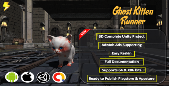 ✅ Ghost Kitten Runner Complete Project – Admob Nulled